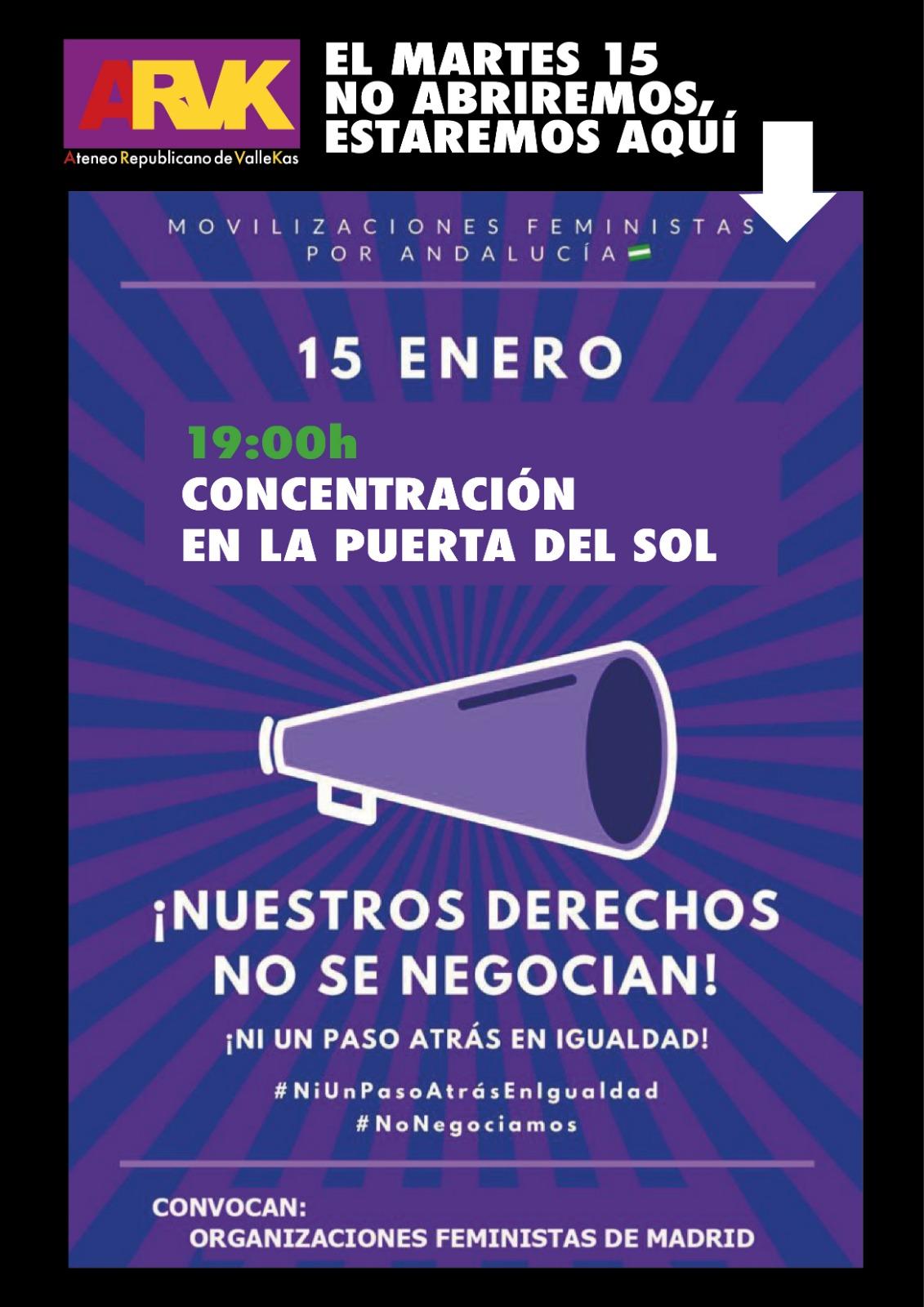 Movilizaciones feministas por Andalucía